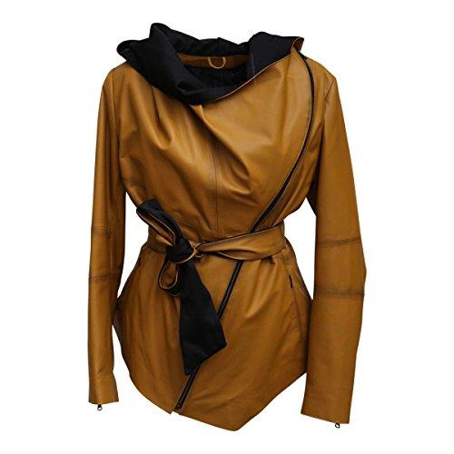 Hollert German Leather Fashion Lederjacke - EWA Damen Echtleder Jacke Größe S, Farbe Senf