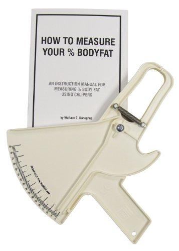 Plicómetro Slim Guide Blanco con Manual de Instrucciones con Tablas para Medir y Calcular Porcentaje de Grasa Corporal, Calibre de Alta precisión e Ideal para Estudiantes y Profesionales.