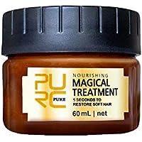 Mascarilla mágica de queratina para tratamiento del cabello, 5 segundos, reparación de raíces del cabello, 60 ml, nutritivo y suave para el cabello, tratamiento del cuero cabelludo