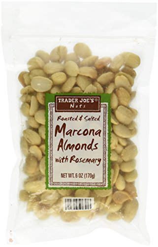 Trader Joe`s Roasted and Salted Marcona Almonds with Rosemary Net Wt 6oz 170g