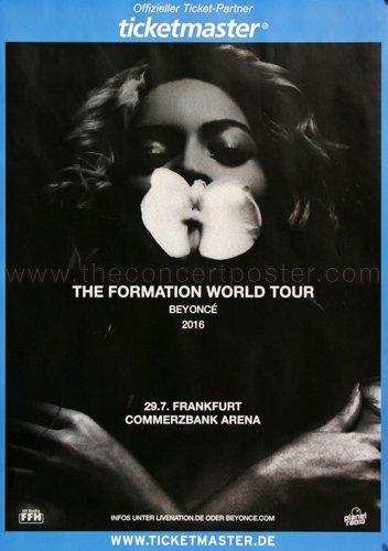 Beyonce - The Formation, Frankfurt 2016 » Konzertplakat/Premium Poster | Live Konzert Veranstaltung | DIN A1 «