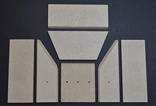 Feuerraumauskleidung A für Jydepejsen Trend-Line Kaminöfen - Vermiculite - 7-teilig