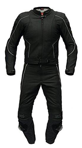 XLS Lederkombi, hochwertiger Zweiteiler in schwarz-matt Top-Preisknüller! (56)