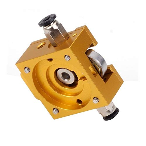 HUANRUOBAIHUO 1Set Gold DIY for Bulldog All-metal Extruder For 1.75mm Compatible J-head MK8 Extruder Remote Proximity For 3D Printer Parts Extruders Components