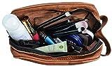 Gusti Waschtasche Kosmetiktasche Kulturtasche Make-up Tasche Braun Leder - 3