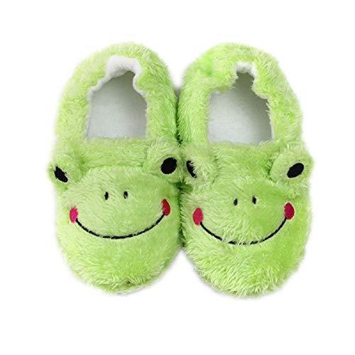 MASOCIO Hausschuhe Kinder Mädchen Junge Schuhe Kinderhausschuhe Haus Pantoffel rutschfest Frosch Größe 22 23