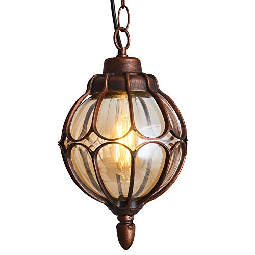 IJ INJUICY Outdoor Hanging Lantern, Rustic Waterproof...