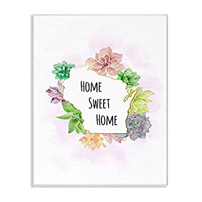 The Stupell Home Decor Collection Wisconsin State Home Sweet Home Succulent
