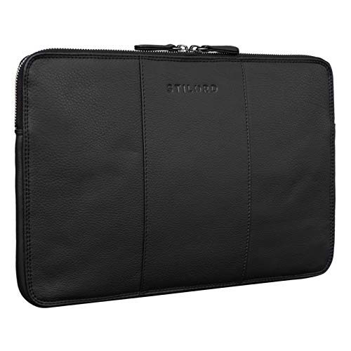 STILORD  Wilson  Custodia PC 13,3 Pollici in Pelle Sleeve MacBook da 13 fino 14 Pollici per Tablet Portatile Vintage, Colore:nero