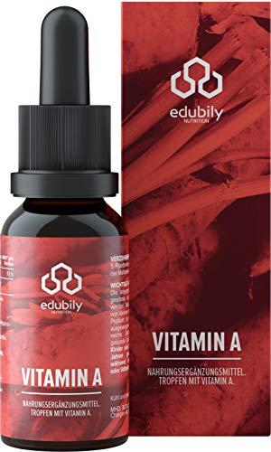 Vitamin A Tropfen Als Retinol Öl • 400 I.E. Retinylpalmitat Pro Tropfen - 2000 I.E. Pro Tag • In MCT-Öl • 758 Tropfen reicht für 150 Tage