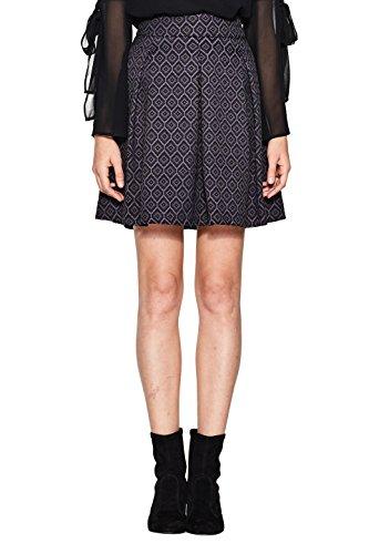 ESPRIT Collection Damen 107EO1D002 Rock, 001/BLACK, 40