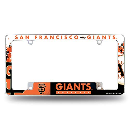 Rico Industries Unisex's Giants - Sf All Over Chrome Frame, Multi, One size