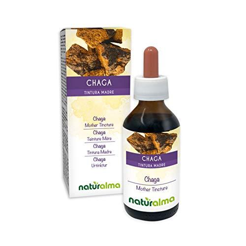 Chaga (Inonotus obliquus) Fungus or Mushroom Alcohol-Free Mother Tincture Naturalma | Liquid Extract Drops 100 ml | Food Supplement | Vegan