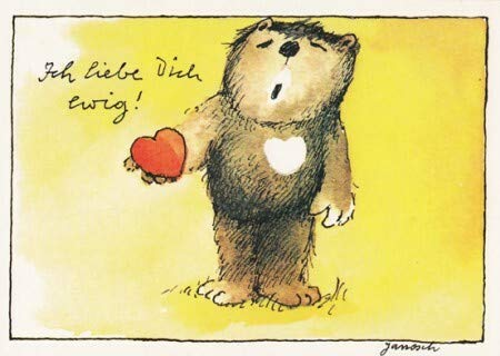 Janosch Postkarte Ich liebe Dich ewig