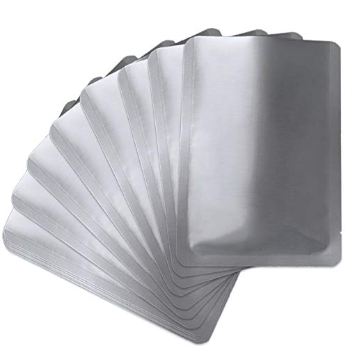 50 PCS 1 Gallon Mylar bags for food storage, Heat Sealable Bags Storage Bags for Food, Coffee Beans, tea, grains, etc. Smell Proof Bags(9.8 x 13.7 Inch)