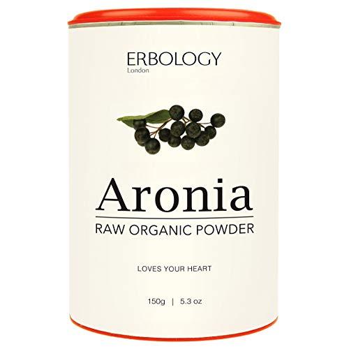 Organic Aronia Powder 5.3 oz - Rich in Anthocyanins - for Healthy Heart - Chokeberry - Raw - Gluten-Free