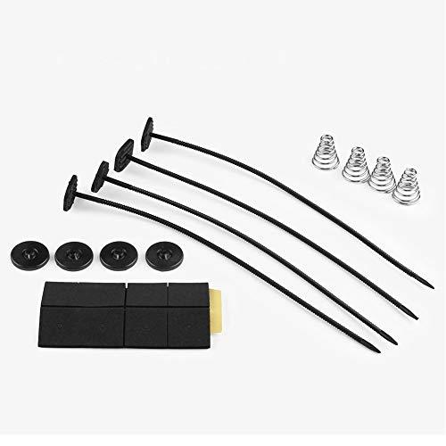 QLING Kit de Montaje Universal para Ventilador de automoción, Accesorio de refrigeración eléctrica para la mayoría de los Ventiladores de radiador, Negro, Tamaño Libre