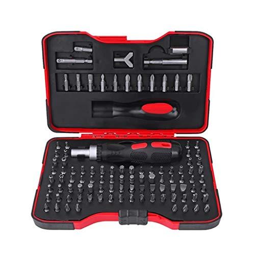 YUTRD ZCJUX Set de Destornillador 101 IN-1 Destornillador de trinquete CR-V Kit de Herramientas de reparación de precisión magnético Hex Torx bits Herramientas de Mano