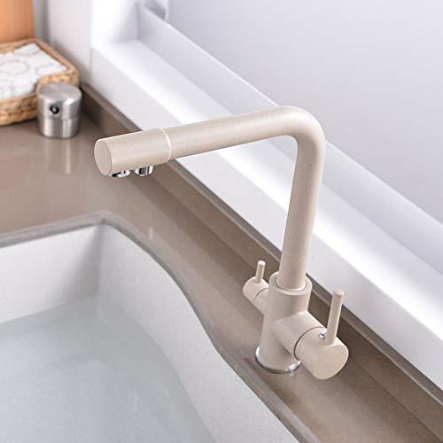 Grifo Purificador Grifo de cocina con agua filtrada Filtro de agua de 3 vías Grifo de filtro de aguaGrifo de fregadero frío y caliente