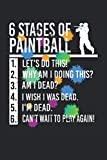 6 stages of paintball: Cuaderno rayado de 6 'x 9'. Planificador de paintball |Jugador de paintball |Gotcha |Airsoft |notas