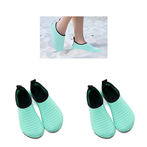 Milageto 2 Pares de Zapatos de Natación para Deportes Acuáticos, Traje de Neopreno, Calcetines de Buceo para La Playa