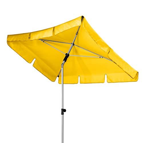 Doppler Active – Rechteckiger Sonnenschirm für Balkon und Terrasse – Knickbar – 180x120 cm – Gelb