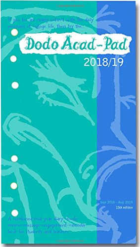 Dodo Acad-Pad 2018-2019 Filofax-compatible Personal Organiser Diary Refill Mid Year / Academic Year, Week to View: A ... for students & teachers (Dodo Pad)