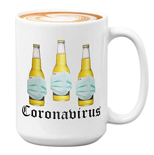 Social Distancing Coffee Mug - Korona Extra Beer - 2020 Überleben Immunangriff No Tp Protect Quarantined Sanitize Health Killed Death