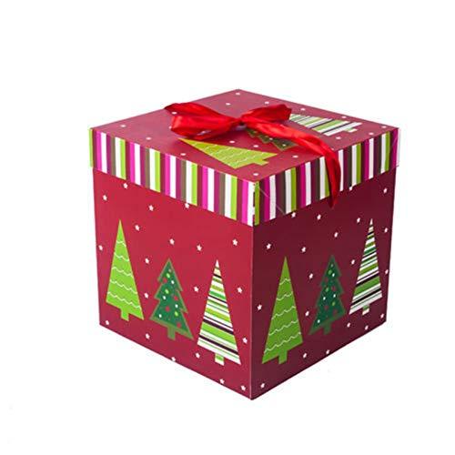 Double Nice Geschenkbox Weihnachten Karikatur-Süßigkeit-Kasten-Geschenk-Taschen Frohe Weihnachten Dekoration Xmas Party Favor Geschenk-Kasten-Beutel for Kinder Kinder geschenkbox Weihnachten