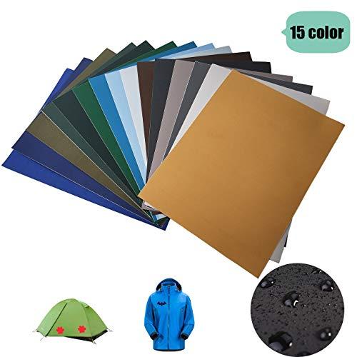 GloBal Mai Selbstklebende Patch-Sticker - Nylon Patch, 8/15/34 Farb-Anzüge, geeignet für Glatte Stoff Rucksäcke, Zelte, Regenschirme, Regenschirme und andere Nylon-Materialien. (15 Color-2)