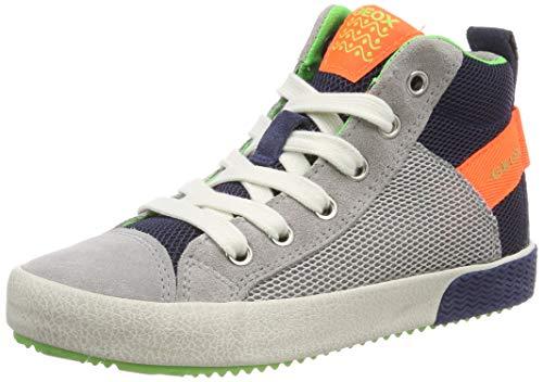 Geox Jungen J ALONISSO BOY H Hohe Sneaker, Grau (Grey/Fluo Orange C1040), 31 EU