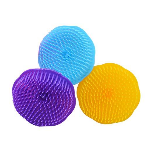 Healifty Badebürste 3 stücke Kopf Körper Massager Pinsel Shampoo Kopfhaut Massage Haar Waschen Kämme Spa Abnehmen Pinsel (Zufällige Farbe)