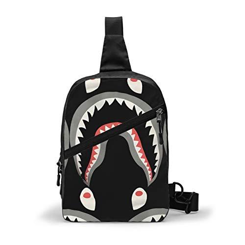 Bape Shark Crossbody Sling Backpack Sling Bag Travel Hiking Folding Chest Bag