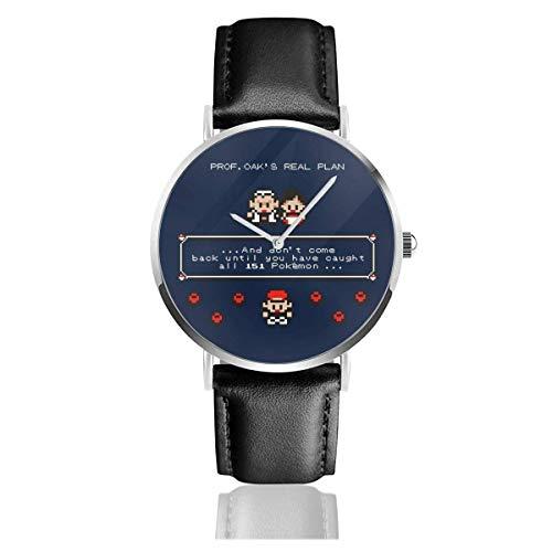 Unisex Business Casual Prof Oaks Real Plan Monster of The Pocket Relojes Reloj de Cuero de Cuarzo