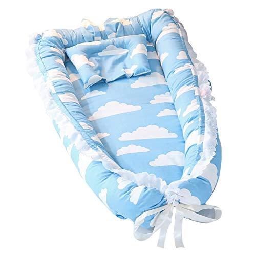 Nai-storage Berceau du Nouveau-né Chambre, Maman Père Anti-Pression de lit séparée - for Les Nourrissons Enfant Portable lit for bébé 0-3 Ans (Color : Blue, Size : 90 * 55 * 15cm)