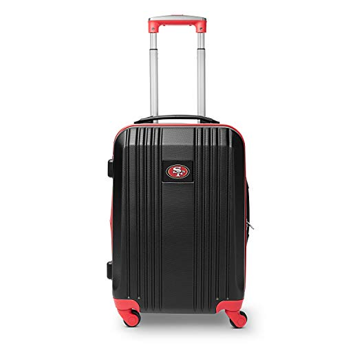 New Denco NFL San Francisco 49ers Round-Tripper Two-Tone Hardcase Luggage Spinner