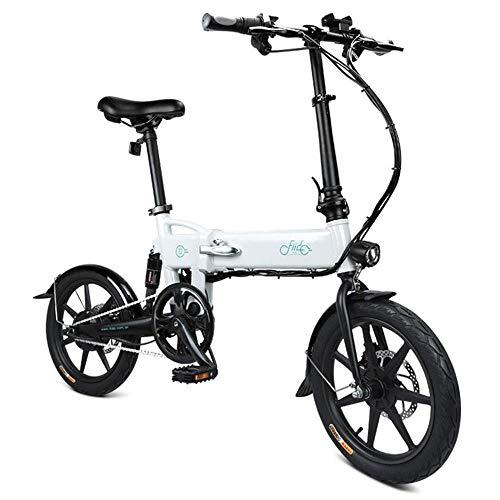 GoZheec FIIDO D2 Vélo électrique,Pliable Ebike avec36V 7.8Ah Li-ION Batterie 250W, Trois Modes de Fonctionnement, 16 Pouces avec vélos à Freins à Disque Double pour Adulte (Blanc)