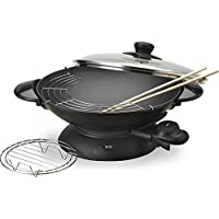 Aroma 5-Quart Electric Wok With Tempered Glass Lid