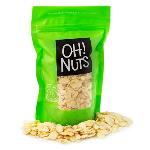 Oh! Nuts Blanched Sliced Almonds | 24oz Bulk Bag Raw Unsalted