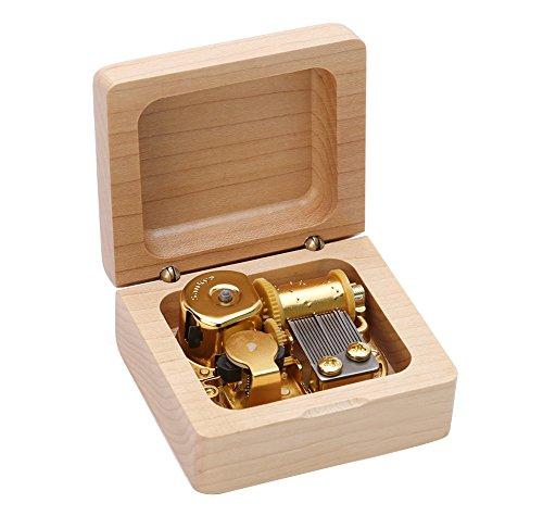 Kicat Christmas Music Box Music Box in Legno Boutique Regalo di Compleanno Creativo (001: Carillon di Acero, -B: Spirited Away)