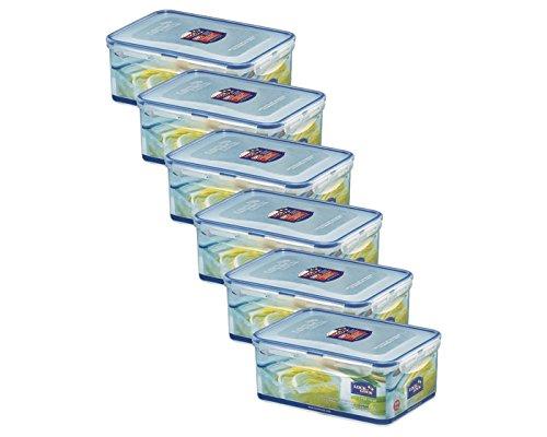 ZIP Premium Frischhaltedosen | Vorratsdosen | Gefrierdosen | 2,3 Liter | spülmaschinengeeignet | Lock&Lock HPL825-6er Set