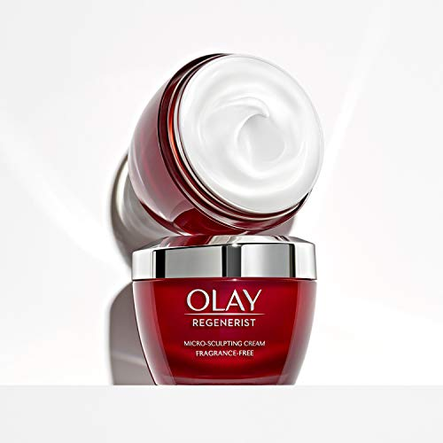 41+G8vPjvGL - Olay Regenerist Micro-Sculpting Cream Face Moisturizer with Hyaluronic Acid & Vitamin B3+, Fragrance-Free, 1.7 Oz + Whip Face Moisturizer Travel/Trial Size Bundle
