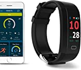 FOMO Fit Fitness Smartwatch - Touchscreen with GPS and App - Smart Watch Activity Tracker for Sleep Blood Pressure and HR - Stay Healthy with Our Health Monitoring Band - Blue