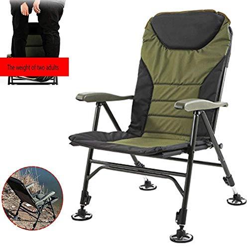 Tragbarer Angelstuhl Klappbare, klappbare Campingstühle Verstellbare Liege Gepolsterte Rückenlehne Outdoor Einfach einzurichten Strandhocker Stuhl für Camp/Picknick/Wandern