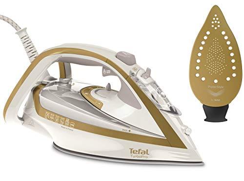 Tefal FV5625 Turbo PRO Precision Ferro da Stiro a Vapore, 2600 W, 0.3 Litri, Alluminio, Oro/Bianco