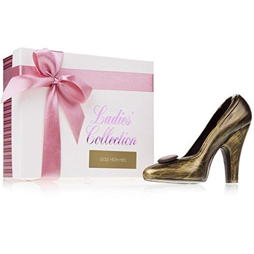 Choco High Heel - Gold - Schuh aus Zartbitterschokolade | Muttertagsschokolade | Frauen | Pumps aus Schokolade | Geschenk Muttertag | Frauen | Valentinstag | Geburtstag | Schoko-Schuh