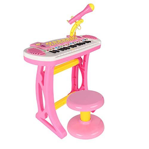BAOLI 31 Keys Pink Children Musical Toys Electronic Organ Keyboard Piano with Karaoke Recording