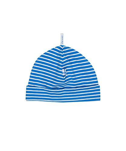 Finkid Hittili blue offwhite gestreifte Kinder Jersey Beanie Mütze