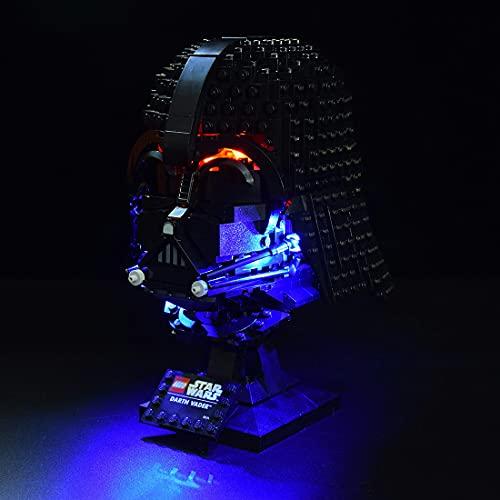 Gettesy Led Beleuchtungsset für Lego 75304 Star Wars Darth-Vader Helm, LED Beleuchtung Kompatibel Mit Lego 75304 (Nicht Enthalten Modell)