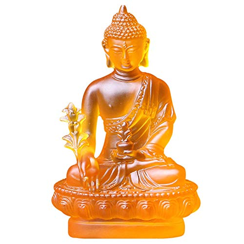 Estatua Impresionante Hogar Jardín Ornamento Escultura Decoración Medicina Buda Estatuilla Decoración, Artesanía de resina Buda Estatua Moderno Hecho A Mano Escultura Escultura Liuli Figuras Adornos B
